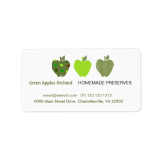 Homemade Preserves Business Label