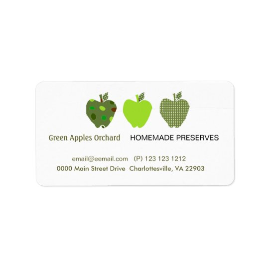Homemade Preserves Business Label