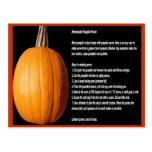 Homemade Pumpkin Puree Recipe Postcard