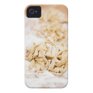 Homemade ribbon pasta close up iPhone 4 Case-Mate case