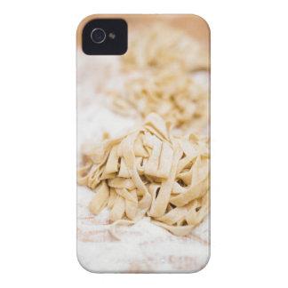 Homemade ribbon pasta, close up iPhone 4 cover