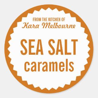Homemade Sea Salt Caramel Label Template