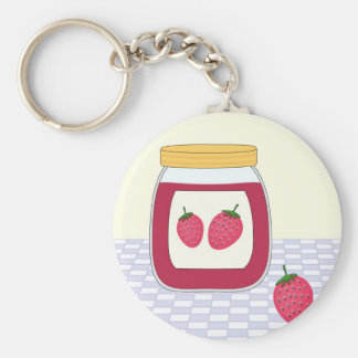 Homemade Strawberry Jam Key Ring