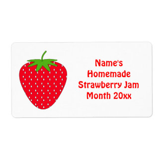 Strawberry jam office supplies stationery zazzlecouk for Homemade shipping label