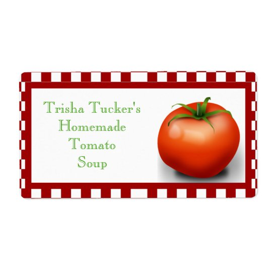 Homemade Tomato Soup Label Shipping Label