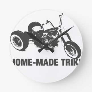 Homemade trike round clock