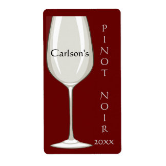 Homemade Wine Glass Wine Labels