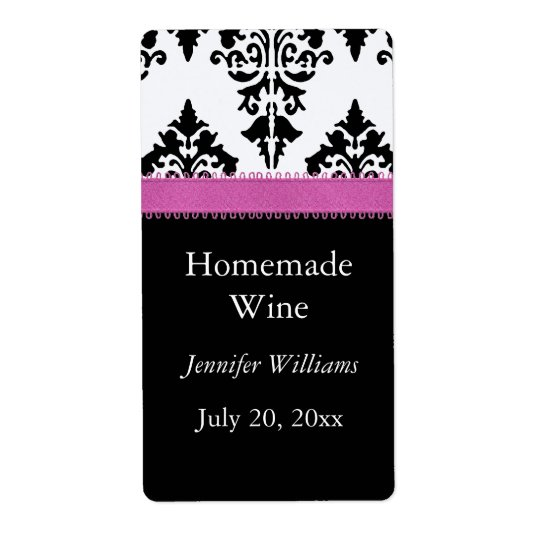 Homemade Wine Label Shipping Label