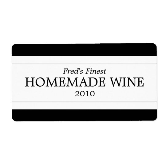 Homemade Wine Shipping Label