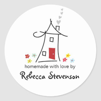 Homemade with Love Sticker Label