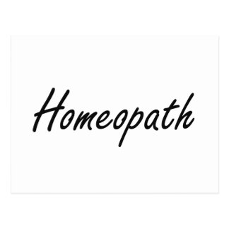 Homeopath Artistic Job Design Postcard