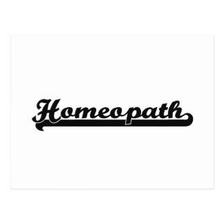 Homeopath Classic Job Design Postcard