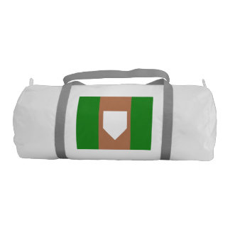 HOMEPLATE Duffle Gym Bag, White with Silver straps Gym Bag