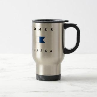 Homer Alaska Alpha Dive Flag Stainless Steel Travel Mug