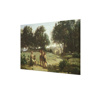Homer and the Shepherds in a Landscape, 1845 Canvas Print