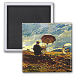 Homer: Artists Sketching in the White Mountains Fridge Magnet