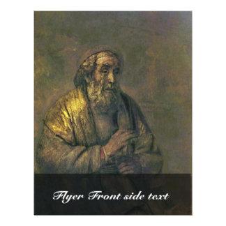 Homer. By Rembrandt Van Rijn  (Best Quality) Custom Flyer