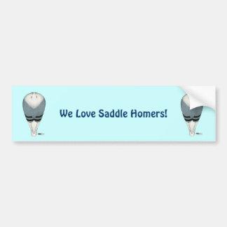 Homer Saddle Top View Bumper Sticker