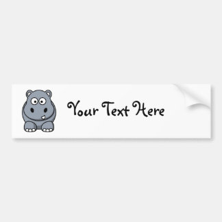 Homer the Huge Hippo Bumper Stickers