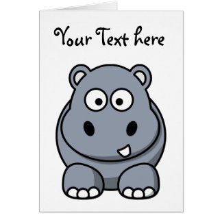 Homer the Huge Hippo Greeting Card