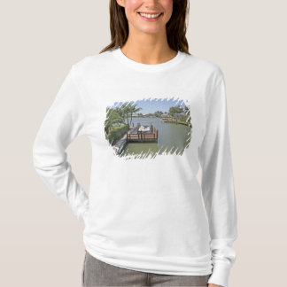 Homes and docks on canal Marco Island Florida T-Shirt