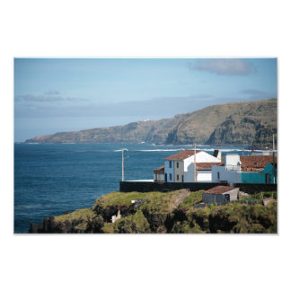 Homes by the sea photo print
