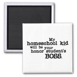 Homeschool Boss Square Magnet
