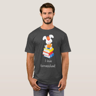 Homeschool Bunny Gray T-Shirt
