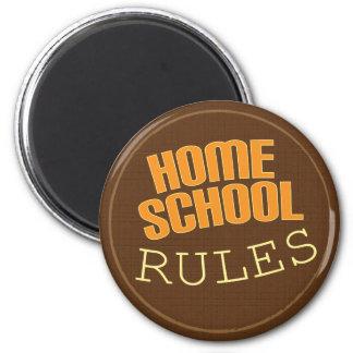 Homeschool button Homeschool Rules Fridge Magnet