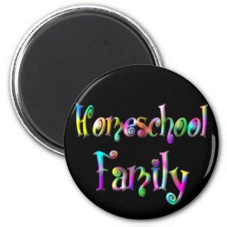 Homeschool Family 6 Cm Round Magnet