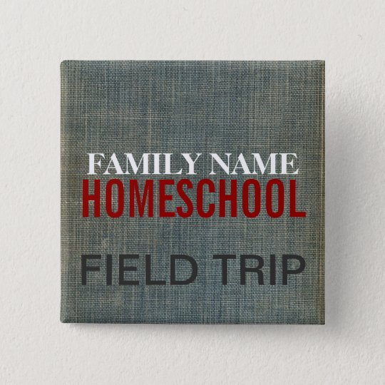 Homeschool Fieldtrip 15 Cm Square Badge