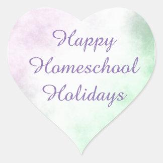 Homeschool Holidays Heart Heart Sticker