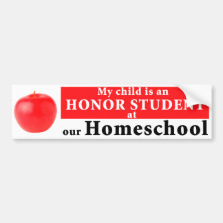 Homeschool Honor Student Bumper Sticker