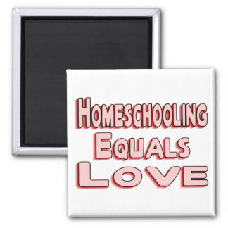 Homeschool Love Square Magnet