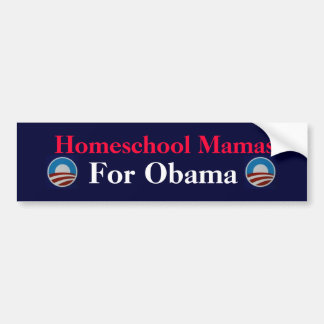 Homeschool Mamas  For Obama Bumper Sticker