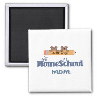 HomeSchool MOM Square Magnet