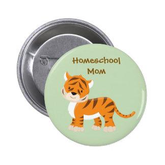 Homeschool Mom Tiger 6 Cm Round Badge