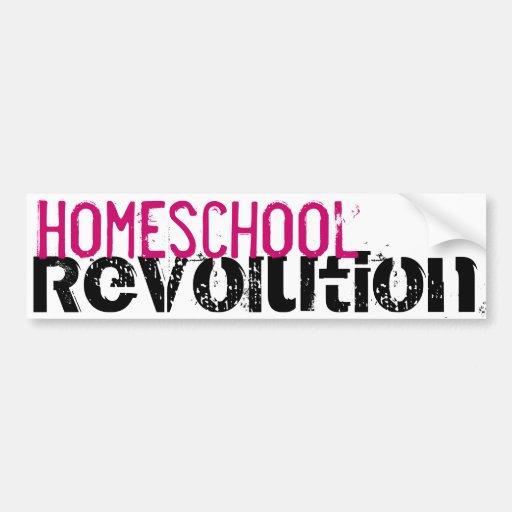 Homeschool Revolution bumper sticker Hot Pink