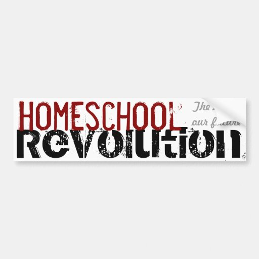 Homeschool Revolution - The key to our future Red Bumper Sticker