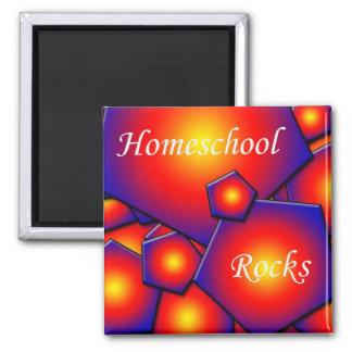 Homeschool Rocks Square Magnet