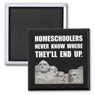 Homeschool Rushmore Square Magnet