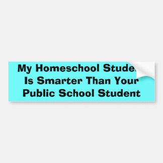 Homeschool vs Public School Bumper Sticker