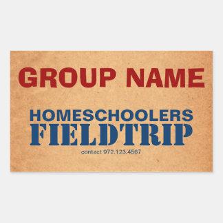 Homeschooler Field Trip Rectangular Sticker