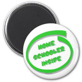 Homeschooler Inside 6 Cm Round Magnet