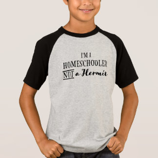 Homeschooler Not Hermit - Kid's T-shirt