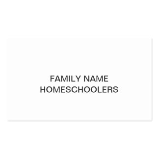 Homeschooler Template Business Card