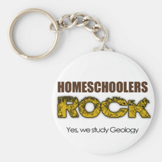 Homeschoolers Rock Basic Round Button Key Ring