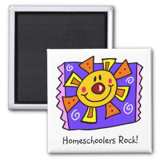 Homeschoolers Rock Purple Sun Magnet