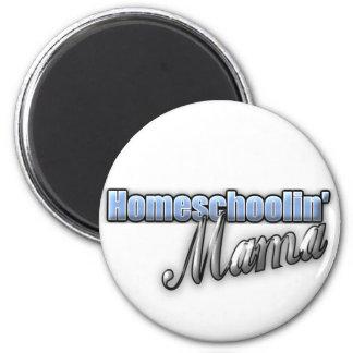 Homeschoolin' Mama 6 Cm Round Magnet
