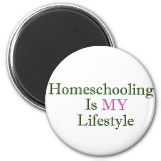 Homeschooling is MY Lifestyle 6 Cm Round Magnet